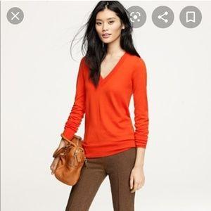 J Crew orange sweater XS